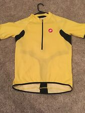 CASTELLI  MENS SPARTAN JERSEY CYCLING TOP L Large  YELLOW - NICE!!