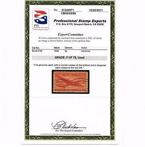 GENUINE SCOTT #C32 SKYMASTER F-VF USED PSE GRADED CERT - ESTATE SALE #6015