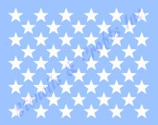 "1"" Star ""50 Stars"" Stencil Patriotic American Flag Template New 9.30"" X 7.25"""