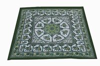New 100% Cotton Square Table Cover Table Decor Wedding Banquet Beach green