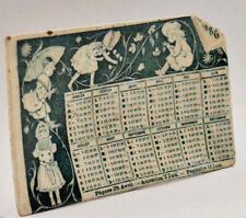 Céramique ancienne cendrier calendrier ceramic calendar ashtray 1886