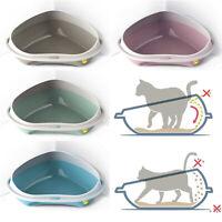 Cat Large or Jumbo Corner Litter Tray Rim Big Pet Toilet Pan Box 4 Colours XL