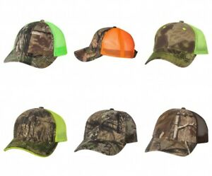 Camo Caps, Realtree Mossy Oak Kryptek Mesh Back, Hunting Safety Hi-Viz Hats
