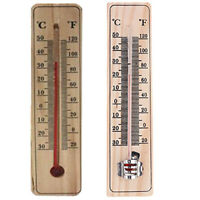 Wall Hang Thermometer Indoor Outdoor Garden House Garage Office Room Hung Log TP