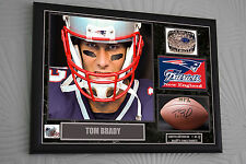 """Tom Brady Limited Edition 1-12 Framed Canvas Portrait Signed """"Great Gift"""" A3"""