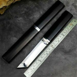 "Mini Katana Japanese Tanto Knife Hunting Combat Tactical D2 Steel Wood Handle 4"""