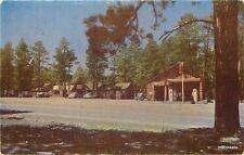 1950s Gas Station Jacob Lake Inn Arizona Intermountain Roberts postcard 3328