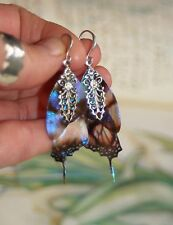 Fairy butterfly wing crystal magical enchanted fae pixie artisan earrings