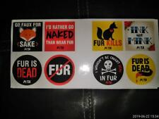 Peta Stickers (8) Rights For All Animals.Love