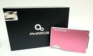 NEW PHAROS Wallet Aluminum - Minimalist RFID BLOCKING ROSE GOLD Cash Strap NIB