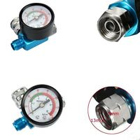 "Air Inlet 1/4""Digital Spray Paint Gun Regulator Air Pressure Gauge HVLP 0-140PSI"