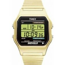 Timex T78677 Mens Classic Style Chronograph Digital Wrist Watch Gold