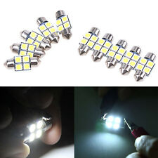 10pcs Dôme C5W 31MM Navette 5050 4 SMD LED Canbus  Ampoule Feston Blanc Voiture