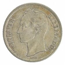 SILVER Roughly Size of Quarter 1954 Venezuela 1 Bolivar World Silver Coin *242