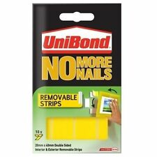 UniBond No More Nails Removable Instant Grab Tape Pack of 10 Strips (20mm x 4cm)