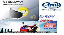 ARAI Helm RX7-V QV-Pro Chaser-X Pinlock Sunreactive protect Tint VAS-V-ic