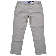 Tommy Hilfiger Mens Chino Pants Slim Fit Bottoms Flat Front Khakis Flag Logo New
