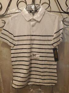 Polo Ralph Lauren Kids' Golf Shirts White Stripe S 8