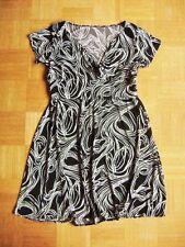 @ C&A @ Robe manches courtes NOIR-BLANC à motif gr. 48 size 4XL