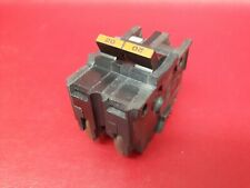 """20A Federal Pacific Fpe Type Na Na220 Stab-Lok 20 Amp 2 Pole 2"""" Breaker Chipped"""
