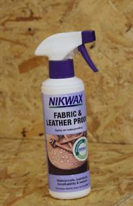 Nikwax Fabric & Leather Proof waterproofing Spray On 300ml Big Bottle -
