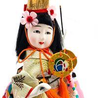 Vintage Japanese Geisha Kimono Doll with Drum Souvenir