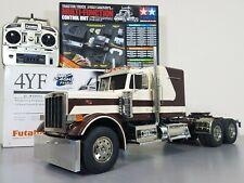 """Custom Tamiya 1/14 RC King Hauler Futaba MFC-01 """"Peterbilt look"""" + Hood & Engine"""