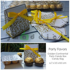 12 pcs Golden Continental Party Candy/Favor Box