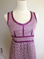 PROENZA SCHOULER FOR TARGET Purple Geometric Print Empire Waist Dress **Size 3
