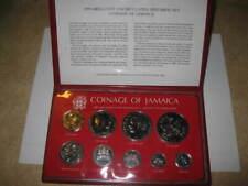 1979 Jamaica Bu Unc Mint Set 9pc Coins Franklin Mint Old Foreign $10 & $5