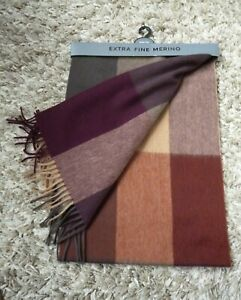 M&S Men's / Mens Extra Fine Merino Wool Scarf BNWT RRP £25 New !!