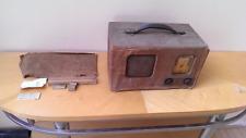 Vintage Art Deco Gold Dial Tweed Philco 39-71 Battery Tube Radio Set