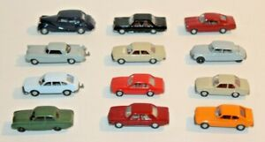 Vintage Lot of 12 Wiking Germany 1:87 Scale HO Plastic Car Vehicles #2