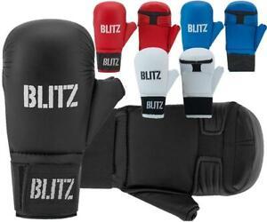 Blitz Karate Mitts Gloves PU Elite Sparring With Thumb Martial Arts Taekwondo