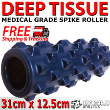 MASSAGE SPIKE ROLLER TRIGGER 31 x 12.5cm YOGA PILATES BACK FOAM GYM