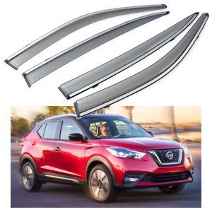 Car Window Visor Vent Shade Deflector Sun/Rain for Nissan Kicks 2018 2019 2020