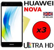 3x Hq Crystal Clear Screen Protector Hd Cover Saver Film Guard For Huawei Nova
