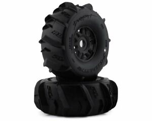 Proline 10189-10 1/7 Dumont Paddle F/R Pre-Mounted Mojave 17mm (2) Black