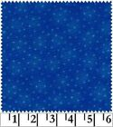 Starlet Coll.-Royal-Blank Quilting-Fat 1/4-White Stars-Tone on Tone Blue B/G