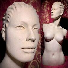 Vintage Rootstein Mannequin Female Torso Display Head Face Bust Oddity Creepy