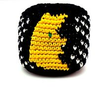 HACKY SACK / FOOTBAG CROCHETED GUATEMALAN MOON & STARS *NEW*