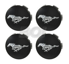 2015-2020 Genuine Ford Mustang Black w/ Chrome Running Horse Wheel Center Caps
