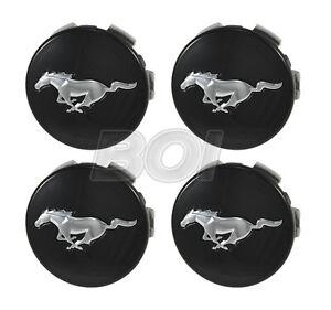 2015-2021 Genuine Ford Mustang Black w/ Chrome Running Horse Wheel Center Caps