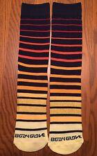 Body Glove Mens Crew Socks Fun Hot Sox Athletic Blue Red Yellow Stripes L New