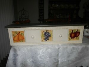 """Home Interiors """"Sonoma"""" Shelf- Wood & Ceramic 24"""" by 6"""" by 6"""""""