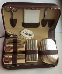 Vintage Men's Grooming Travel Kit In Case Incl. Razor, Scissors, Mirror, UNUSED!