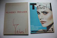 Tabou! Numero Premier + deux - 2 Bücher - Akt-Fotografie - recht selten