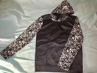 MEN'S ADIDAS ORIGINALS CAMO PULLOVER HOODIE LARGE WHITE/GREY