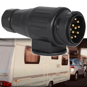13Pin Trailer Plug Black 12V Wiring Connector Caravans Socket Car Accessories
