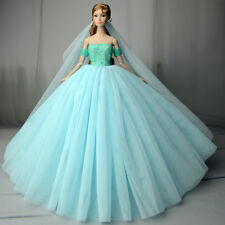 Fashion Royalty Princess Dress/Clothes/Gown+veil For Barbie Doll S551